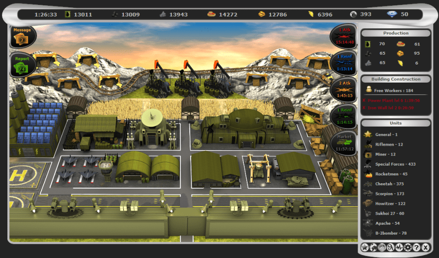 Warmides   Modern warfare strategy browser game  One