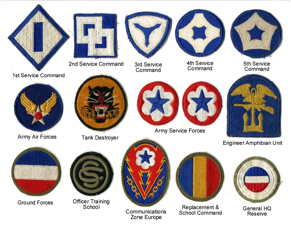Foreign Military Patch Identification Wwii