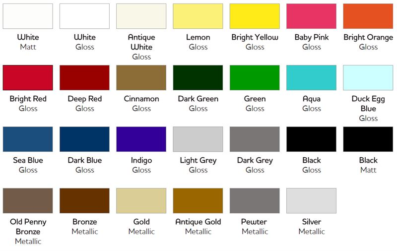 Garden Paint Colours