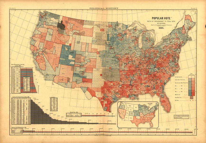 Election maps are telling you big lies about small things     Things take time  Our national tradition of election maps