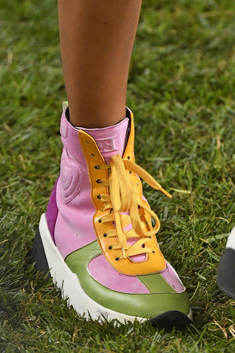 At Escada  these sneakers weren t cute  They didn t make a clever     Sneakers  At the Escada Spring Summer 2019 Collection   Jonas  Gustavsson MCV Photo for The Washington Post