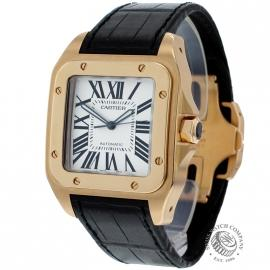 Cartier Santos 100 18ct Rose Gold Watch   W20071Y1   Ref    Cartier     Cartier Santos 100 18ct Rose Gold Watch   W20071Y1   Ref    Cartier Watches    Watches co uk