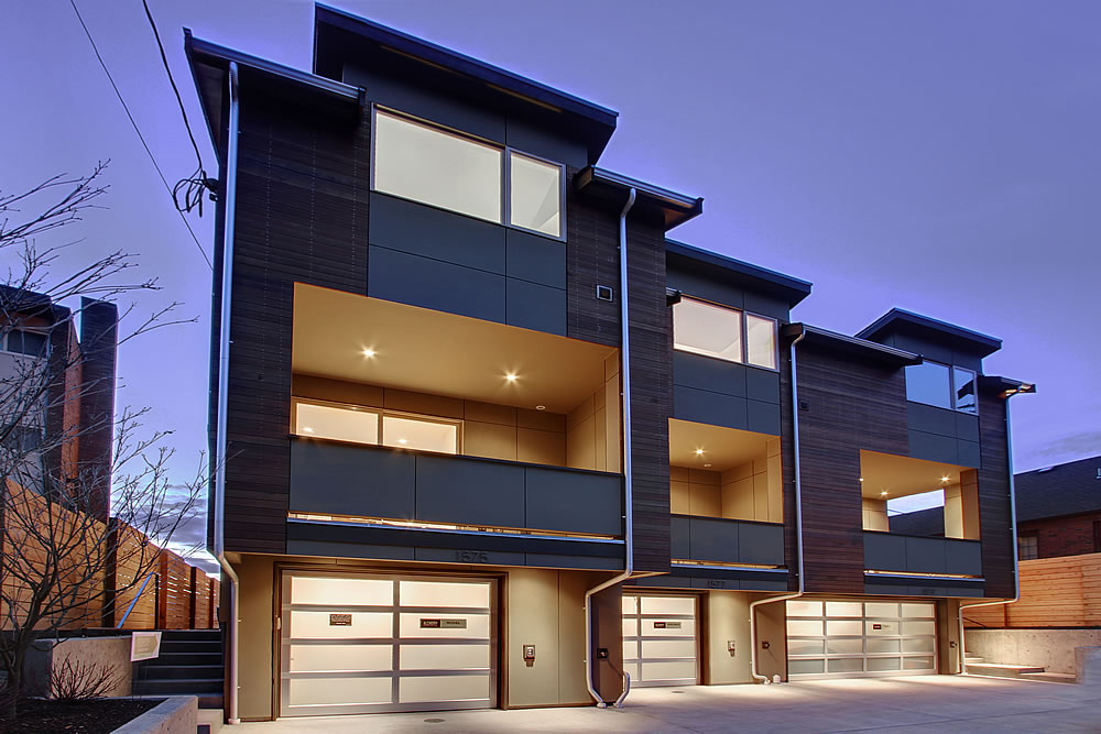 Contemporary Modern Multi Family Watermark Construction
