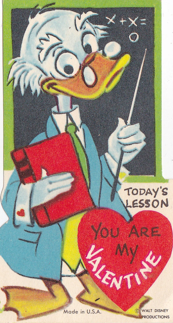 9 Vintage Disney Valentine's Day Cards