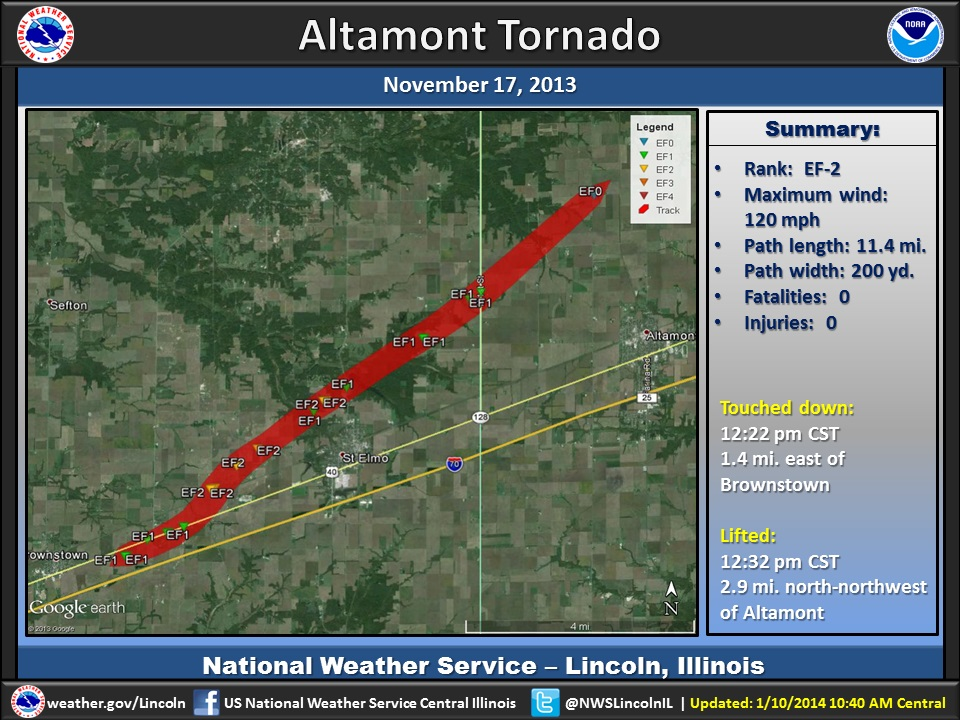 2013 Tornadoes Indiana Map 17 11