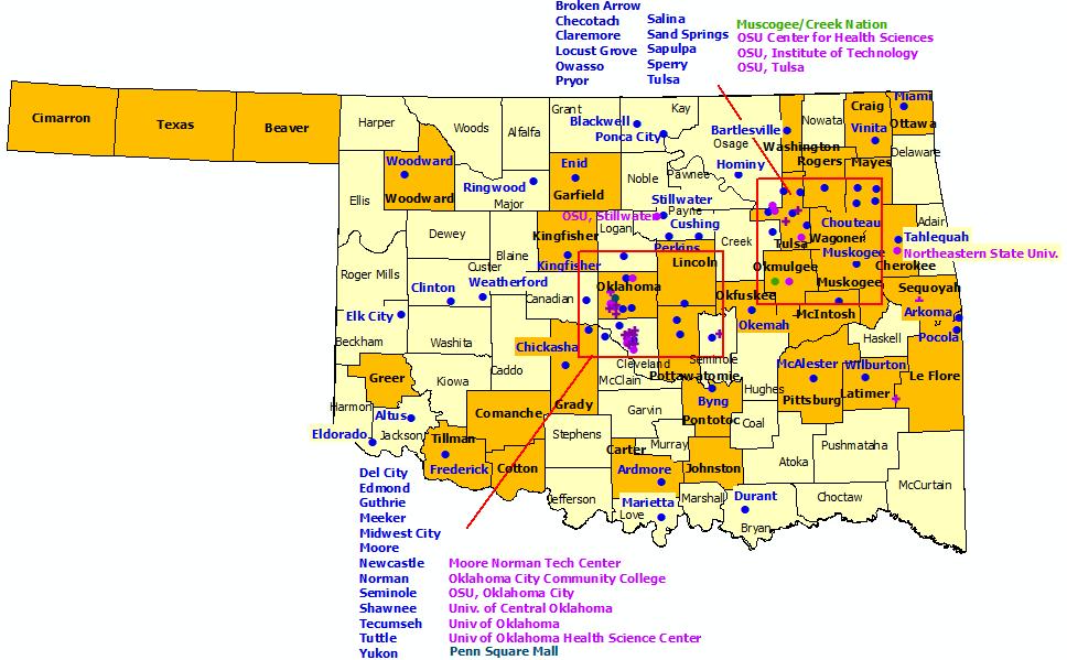 Lincoln County Oklahoma Plat Map