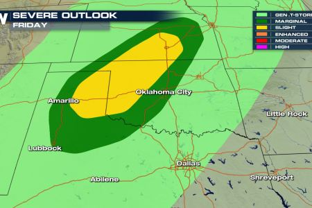 Increasing Severe Weather Chances for Texas  Oklahoma and Kansas by     Increasing Severe Weather Chances for Texas  Oklahoma and Kansas by Friday    WeatherNation