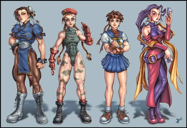 Top 30 Beautiful Female Street Fighter Characters - Web ...