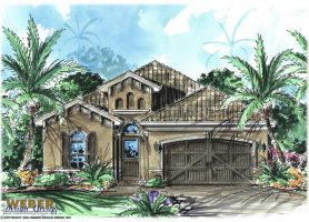 Mediterranean House Plans  Luxury Mediterranean Style Home Floor Plans Arabella Home Plan