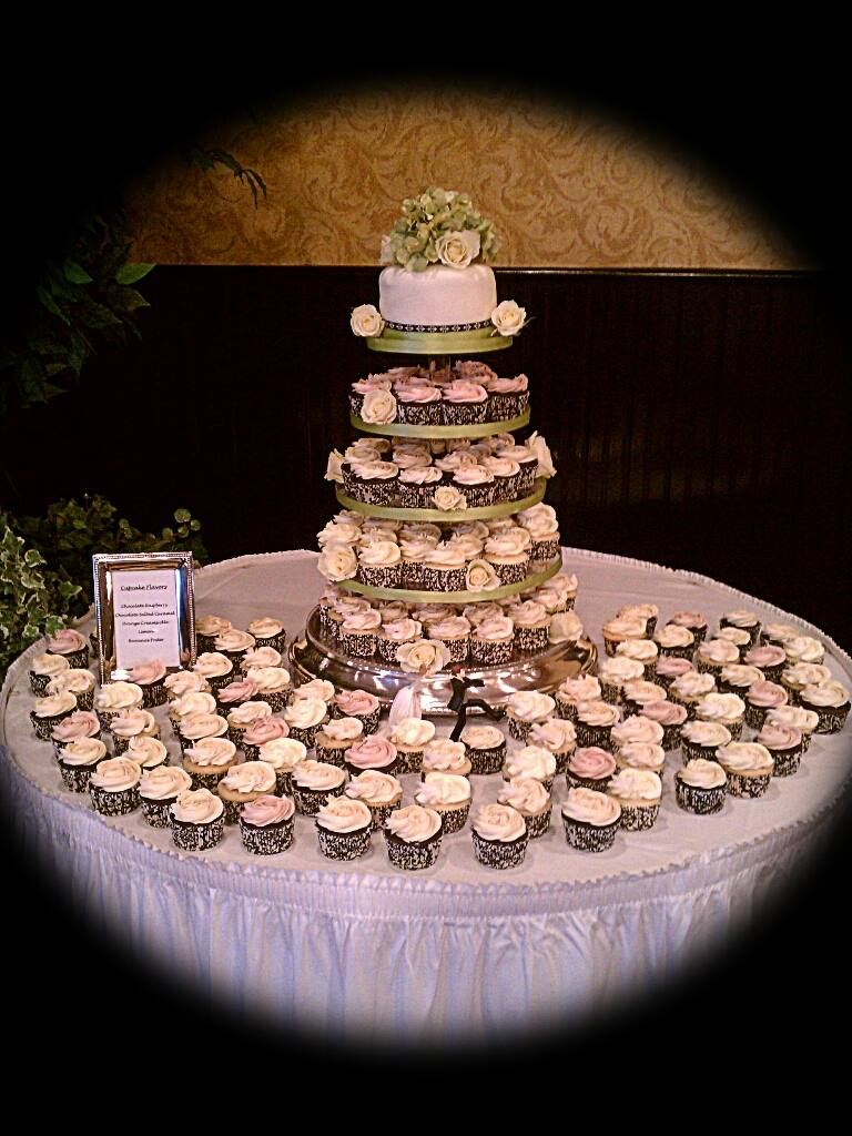 Cupcake Tiered Wedding Cake A Sweet Alternative Cupcake wedding cake by My Little Peace of Cake