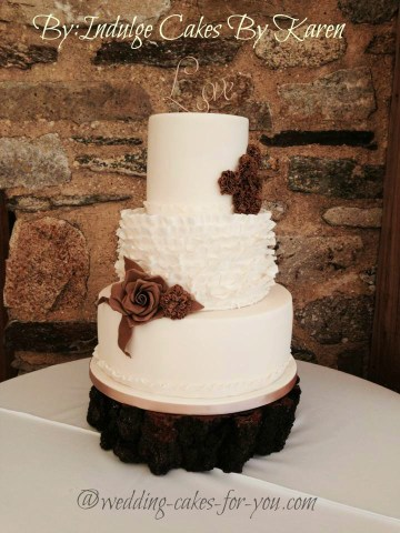 Rustic Wedding Cakes For That Homespun Feeling A Rustic Wedding Cake by Indulge Cakes by Karen