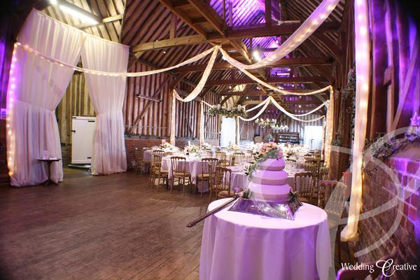 Venue Dressing At Lillibrooke Manor Wedding Creative