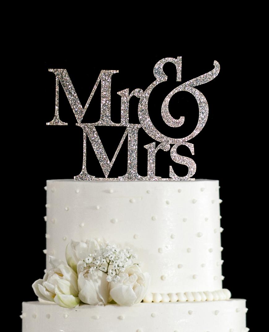 Silver Wedding Cake Decorations | Wedding Ideas By Colour ...