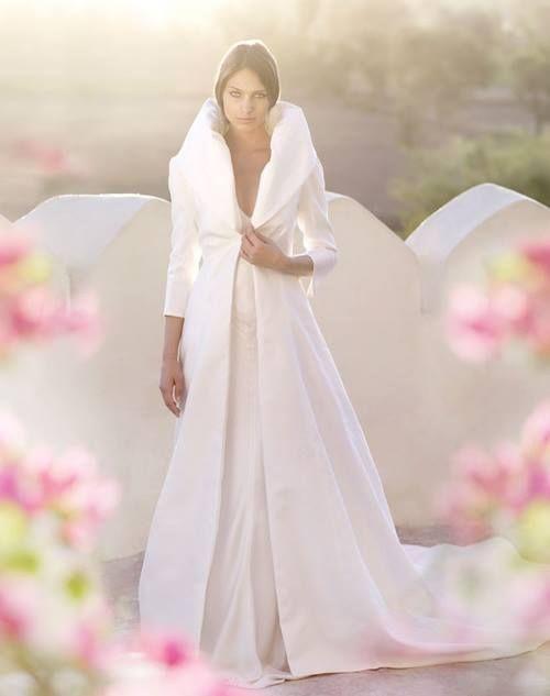 Dress And Coat Winter Wedding