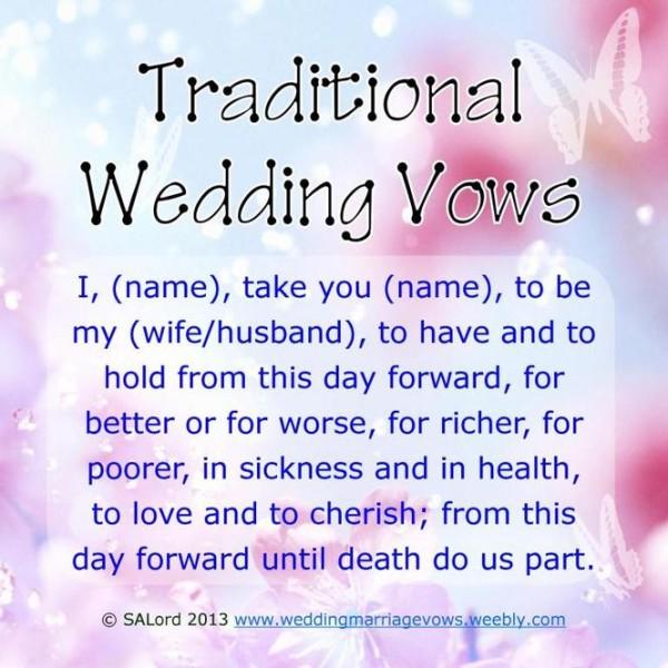 Contemporary Wedding Vows Non Religious