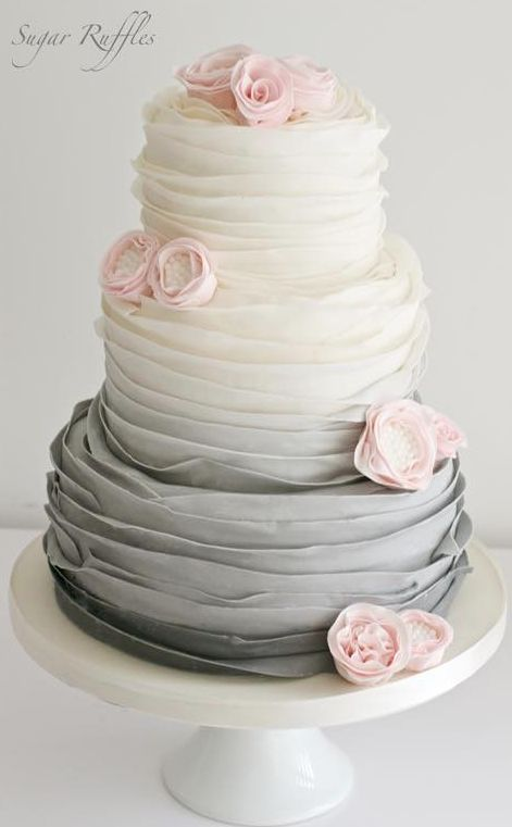 20  Wedding Cake Ideas from Sugar Ruffles   Page 4 Wedding cake idea Featured by Sugar Ruffles