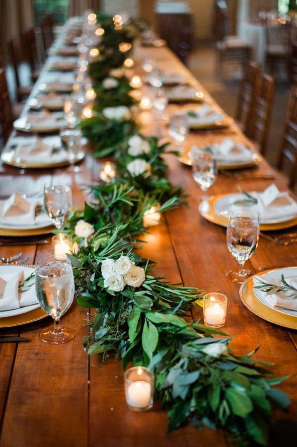 23 Wedding Trend Unique Floral Wedding Garland Table