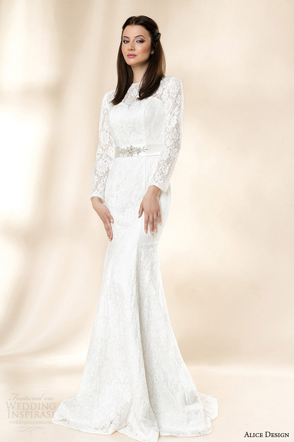 Bridal 4 3 Lace Sleeve Gown