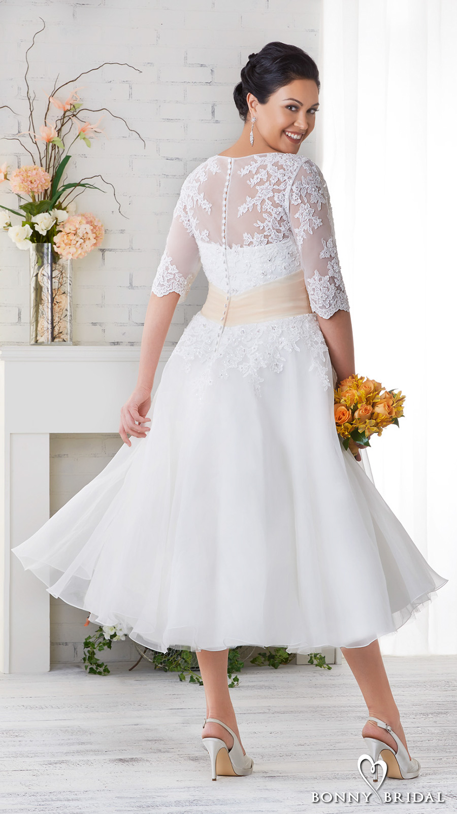 Neckline Soft Dress Lace Embellished Fit And And Flare Tulle Line Sweetheart Wedding