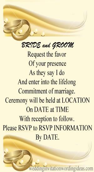Personal Wedding Invitation Wording