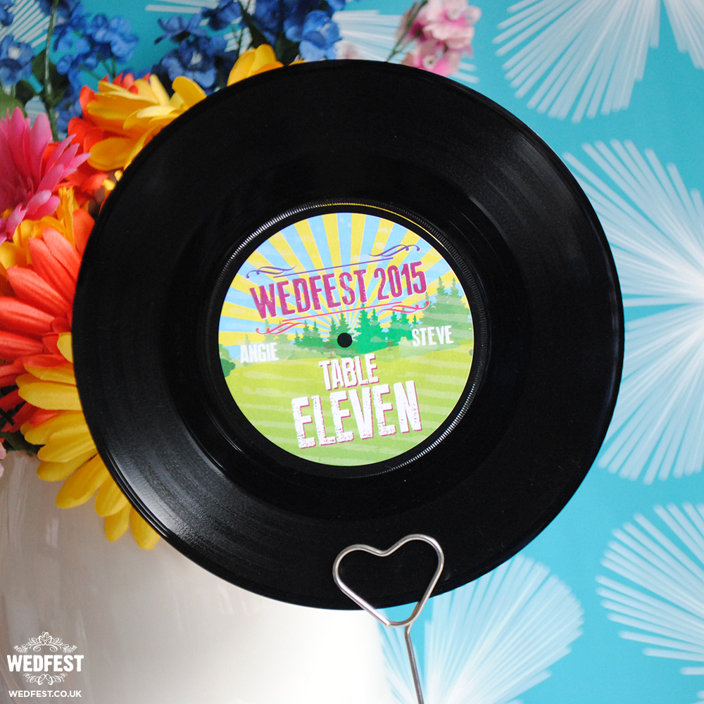 7 Quot Vinyl Record Wedding Table Names Numbers Wedfest