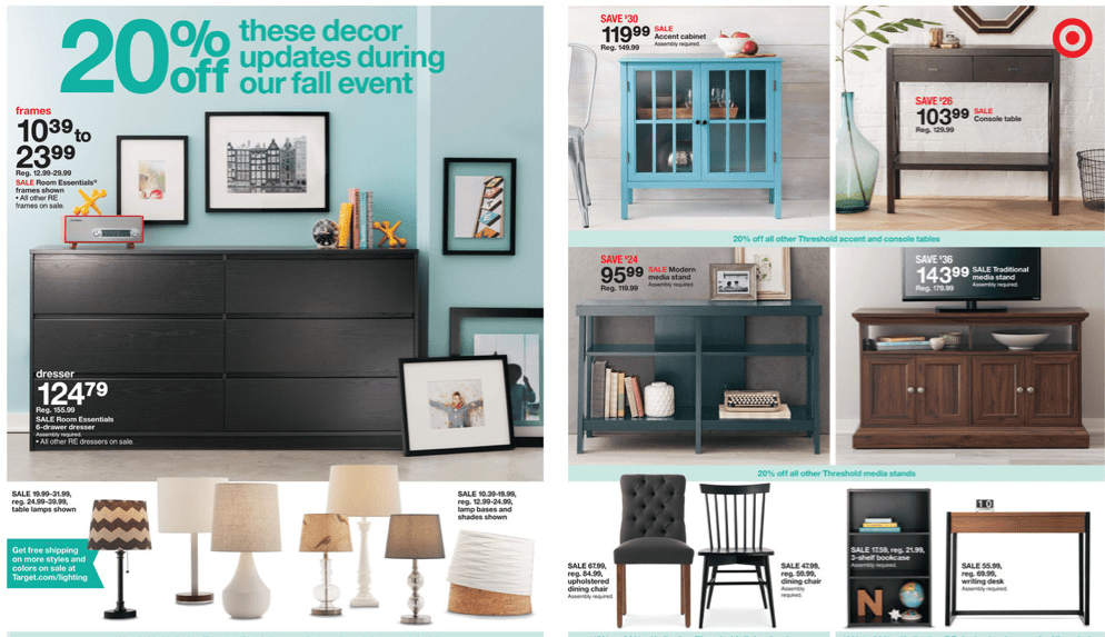 Target Furniture Sale 2014 Fall Winter Savings target furniture sale