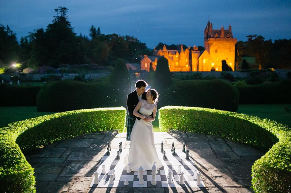 Scottish Castle Wedding With Outdoor Ceremony