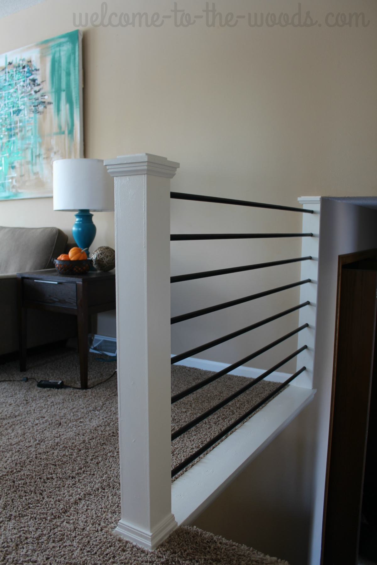 Stair Railing Diy Makeover | Modern Horizontal Stair Railing | Really Thin | Interior | Cast Iron | Cable | Elegant