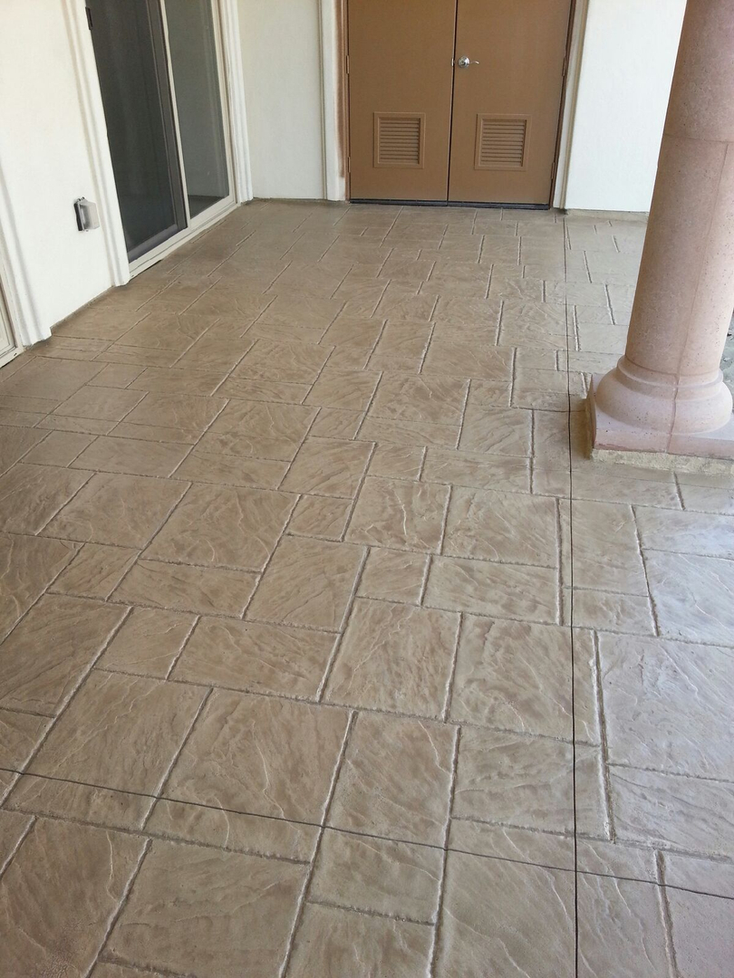 Stamped Concrete Overlay Western Magnesite