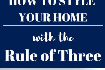 Decorating with the Rule of Three   We Three Shanes Want to change the look of your home without spending a dime  Did you know