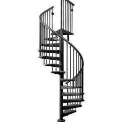 Outdoor Cast Iron Carbon Steel Spiral Staircase   Exterior Spiral Staircase Cost   Spiral Stair Case   Deck   Handrail   Iron   Metal