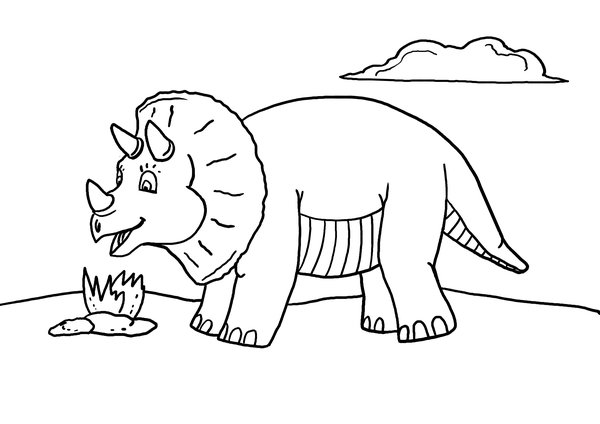 free printable dinosaur coloring pages # 6