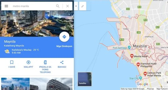 You Can Now Get Directions on Google Maps in Filipino    When In Manila Google Maps is now in Filipino