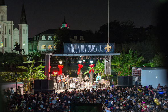 Where to Spend New Year s Eve in New Orleans   WhereTraveler Jackson Square is the perfect place to the fleur de lis drop and fireworks  display       Shawn FInk