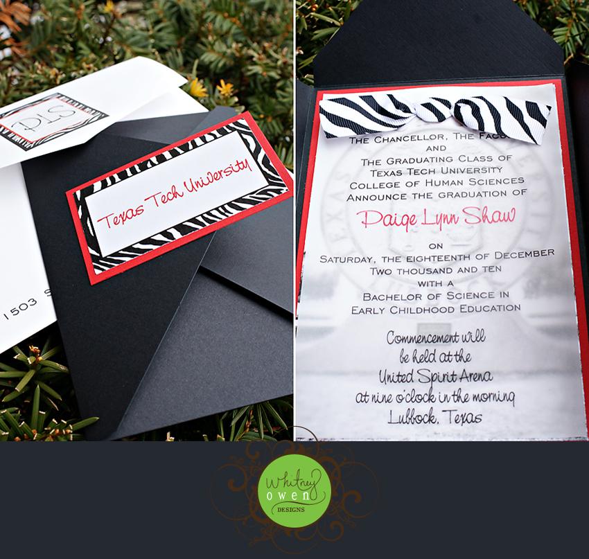 Custom Invitations Lubbock