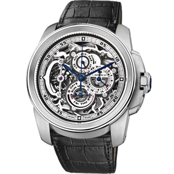 Cartier Complicated Watch  Rotonde Grande Flying Tourbillon     Side of Cartier Rotonde Grande Complication Skeleton