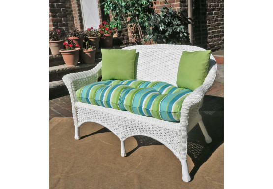 Prime White Resin Wicker Loveseat Coquina Key Outdoor Wicker Cjindustries Chair Design For Home Cjindustriesco