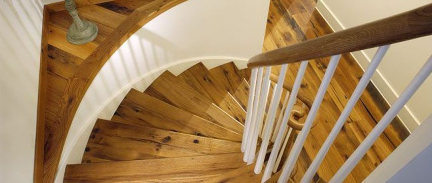 Design Ideas For Stairs To Match Your Custom Hardwood Floors | Prefinished Hardwood Stair Treads | Hand Scraped | Wood Stair | Red Oak Natural | Flooring | White Oak