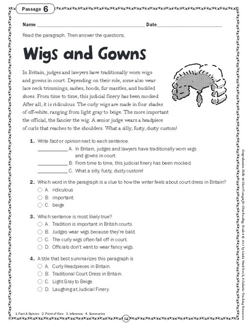 Critical Reading Skills Worksheets