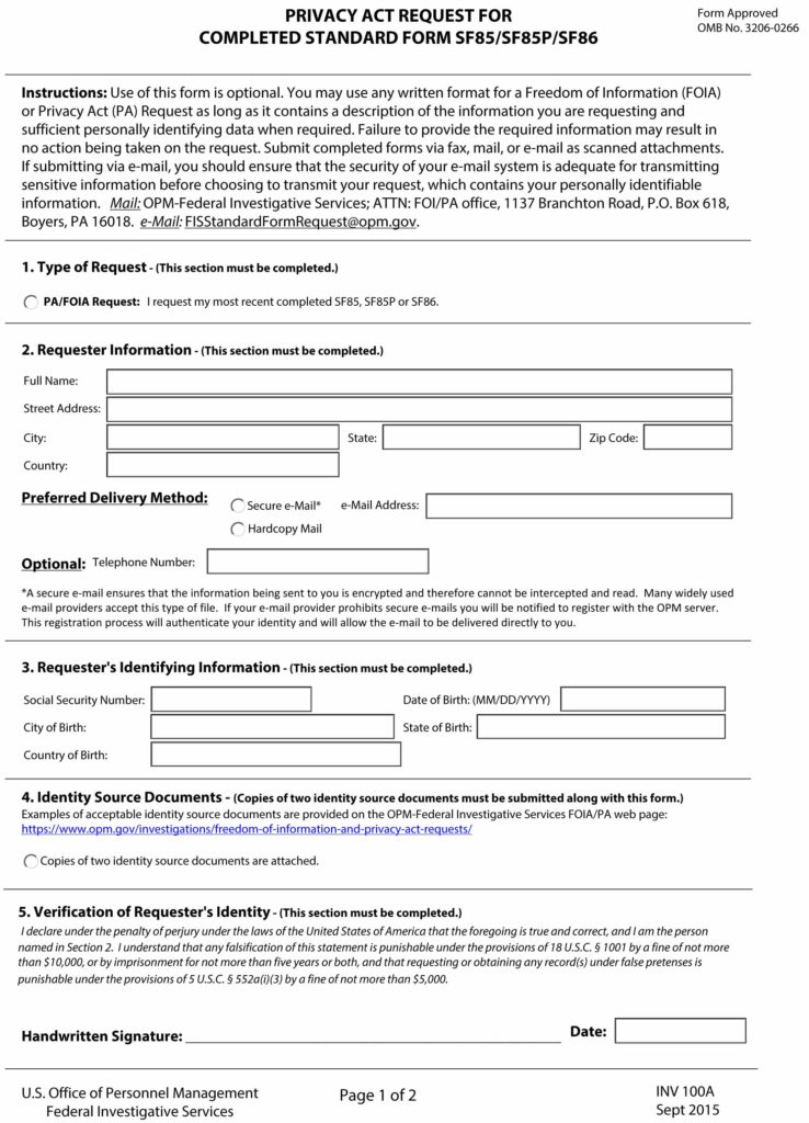 Questionnaire Security 86 Online Personal Sf