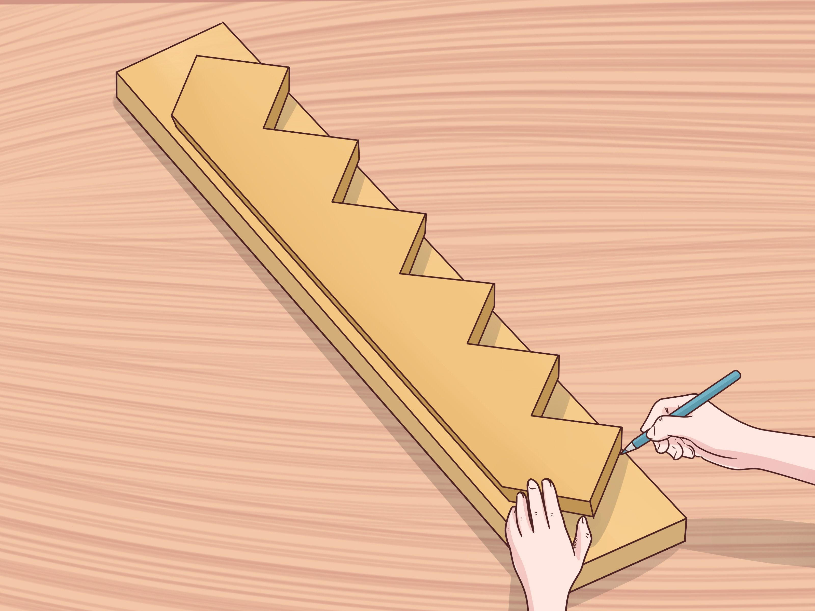 How To Cut Stair Stringers 15 Steps With Pictures Wikihow | Best Wood For Stairs | Engineered Hardwood | Stairway | Engineered Wood Flooring | Staircases | Wooden Staircase