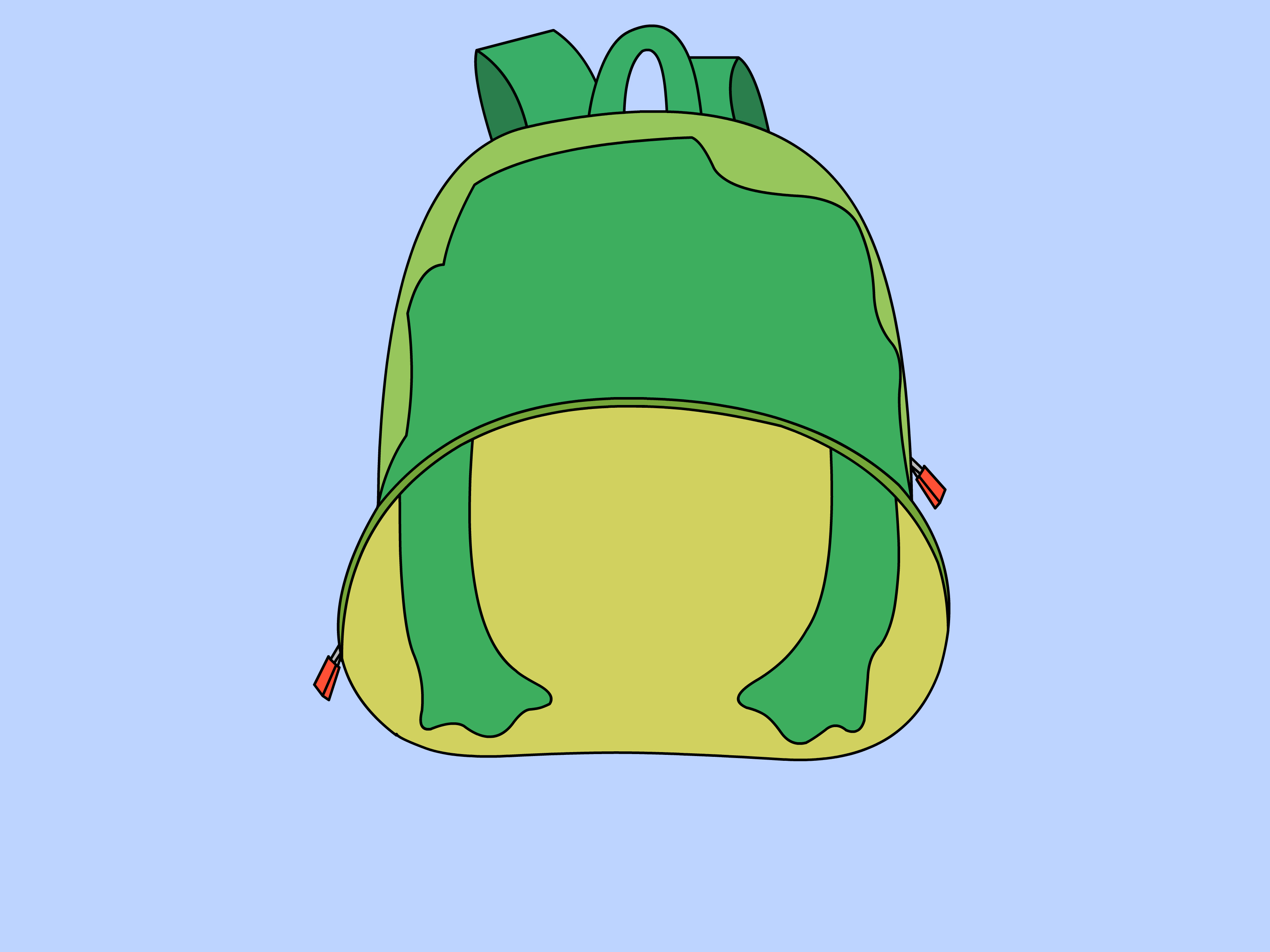 open backpack picture - HD3200×2400