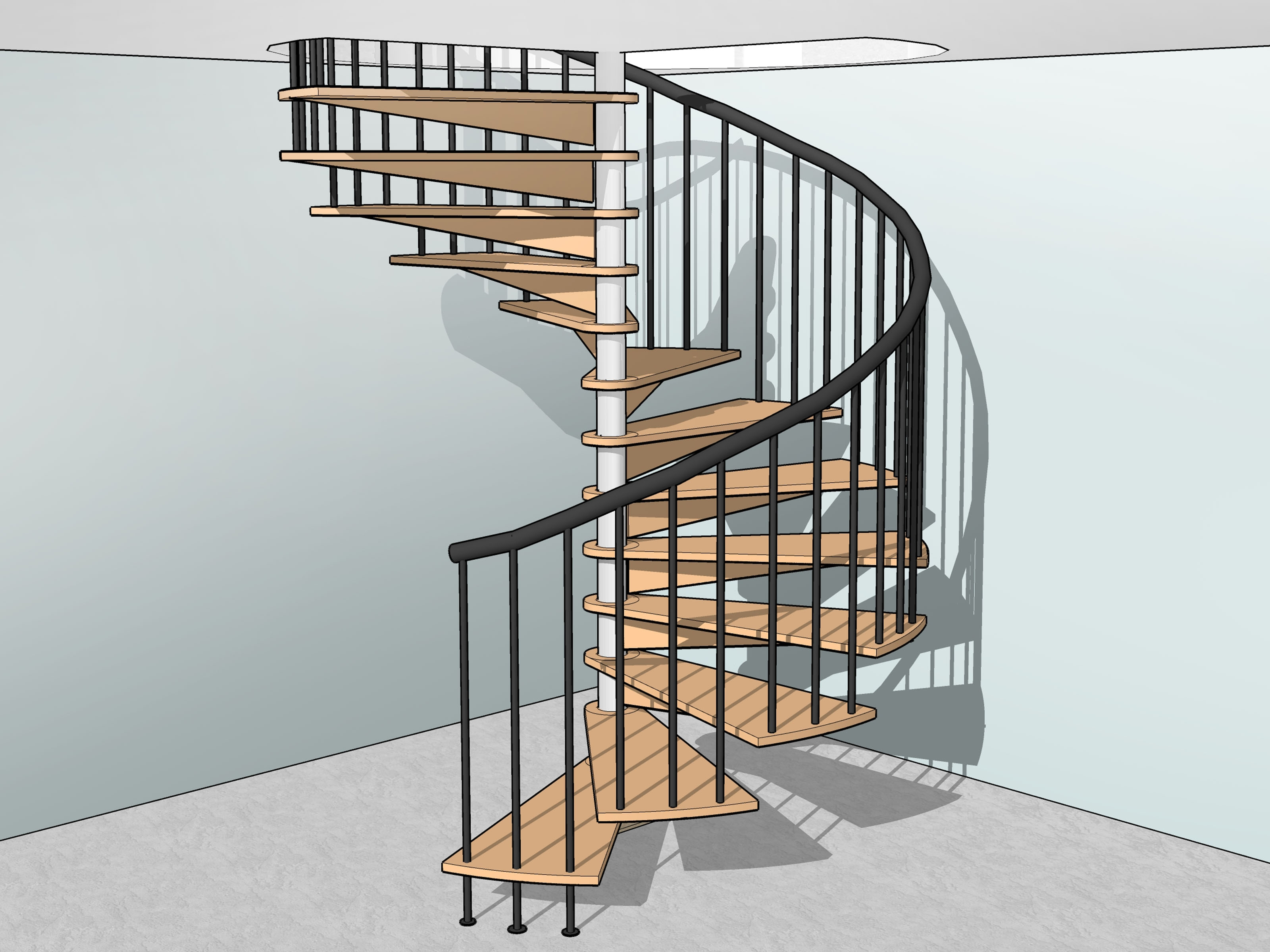 How To Build Spiral Stairs 15 Steps With Pictures Wikihow   5 Foot Spiral Staircase   Metal   Hayden Gray   Reroute Galvanized   Steel   Handrail