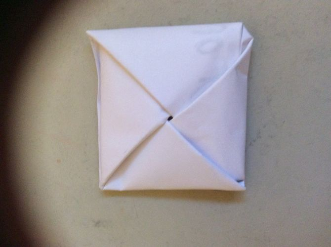 Secret Message Origami Square