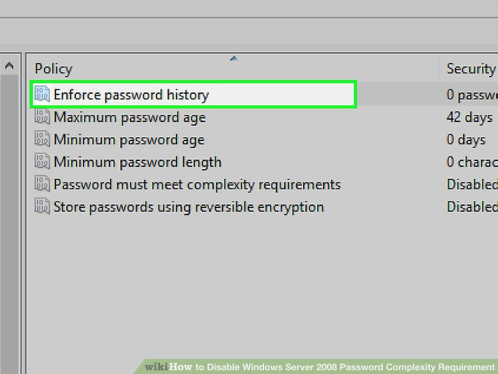 Definition Security Settings