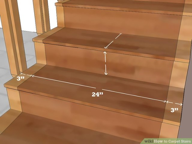 How to Carpet Stairs  with Pictures    wikiHow Image titled Carpet Stairs Step 1