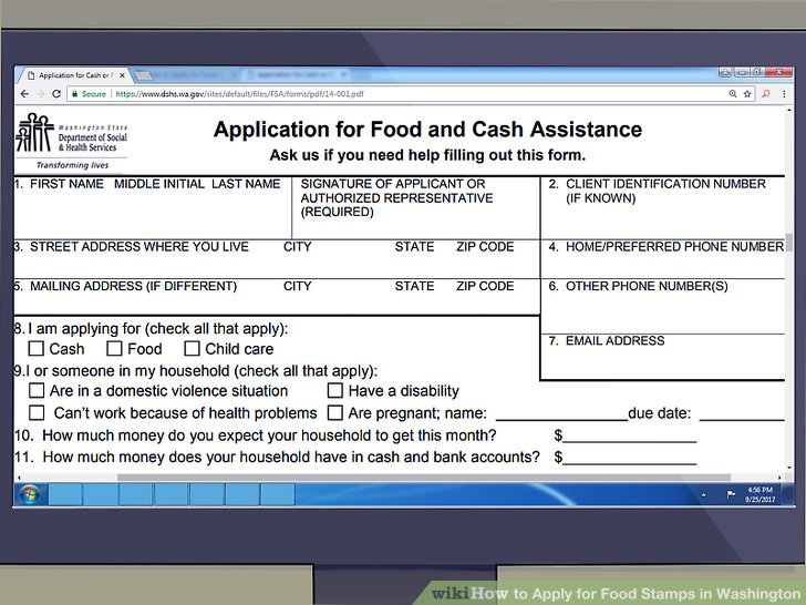 Food Stamp Application Online