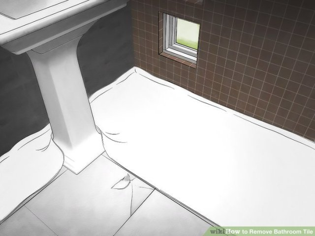 How to Remove Bathroom Tile  11 Steps  with Pictures    wikiHow Image titled Remove Bathroom Tile Step 1