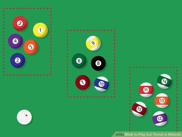 How to Play Cut Throat in Billiards  11 Steps  with Pictures  Image titled Play Cut Throat in Billiards Step 1