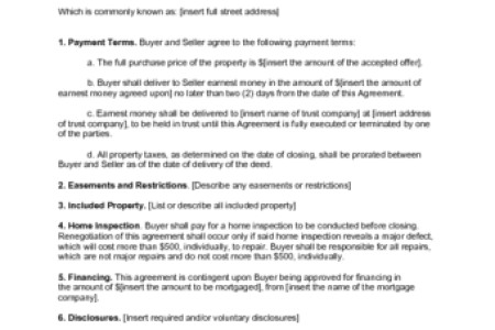 Real Estate Sales Contract Form Free Standard Forms Standard Forms